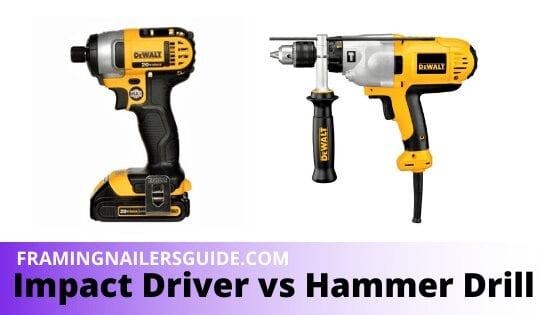 Impact Driver vs Hammer Drill