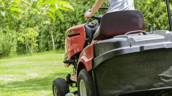 Driving a Lawn Mower