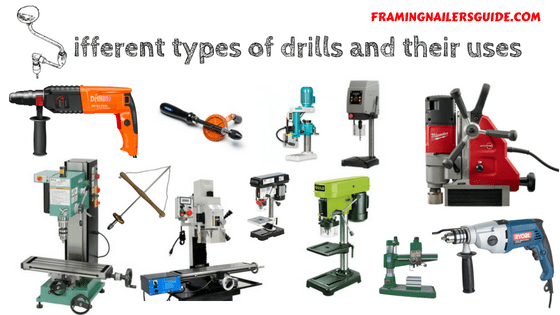 different types of drills and their uses