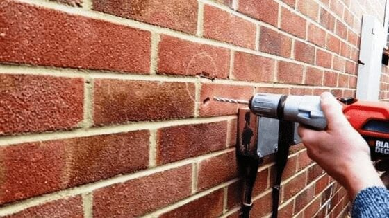 mark the wall before drilling