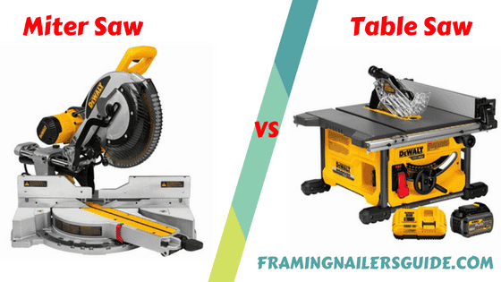 Miter saw vs Table saw: difference between miter saw and table saw