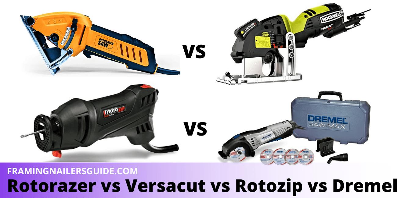 Rotorazer vs Versacut vs Rotozip vs Dremel