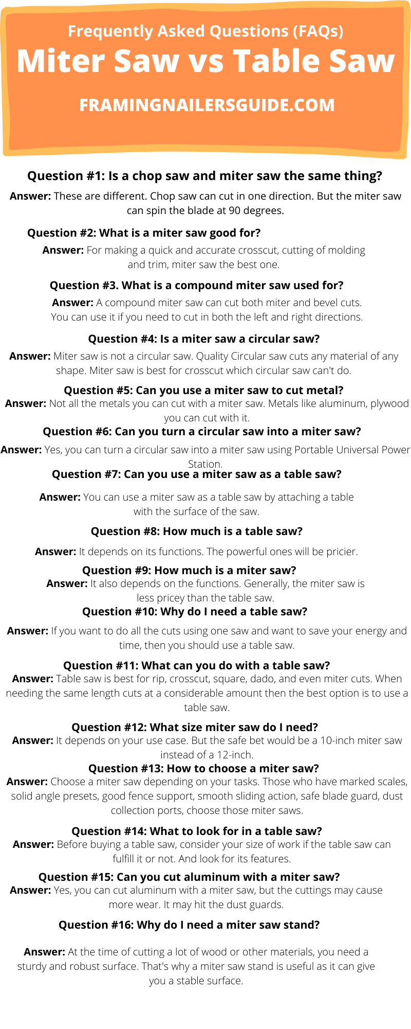 table saw vs miter saw FAQs