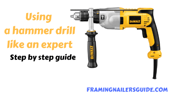how to use a hammer drill