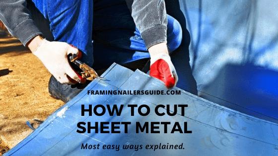 how to cut sheet metal