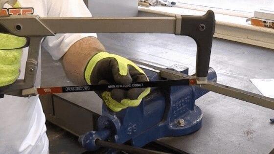 Hacksaw for cutting metal sheet