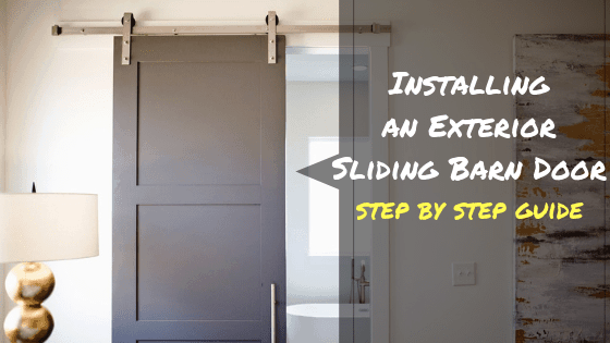 How to install an exterior sliding barn door: