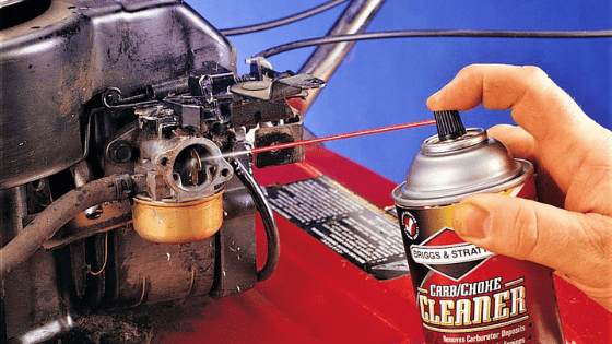 cleaning the carburetor