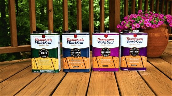 Can you use Thompson's water seal on pavers