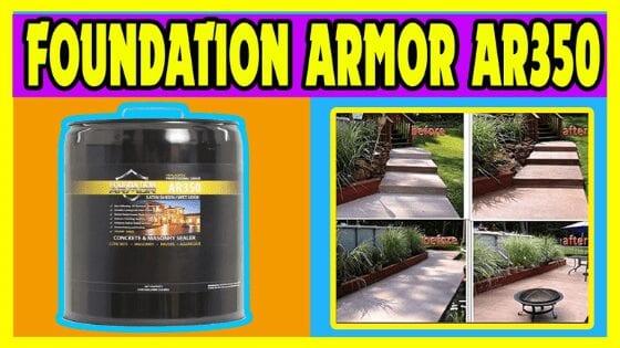 Foundation Armor AR350 Solvent Based Acrylic Paver Sealer