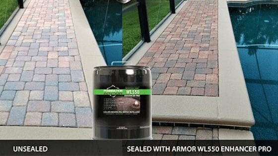 Foundation Armor WL550 Matte Wet Look Pavers Sealer