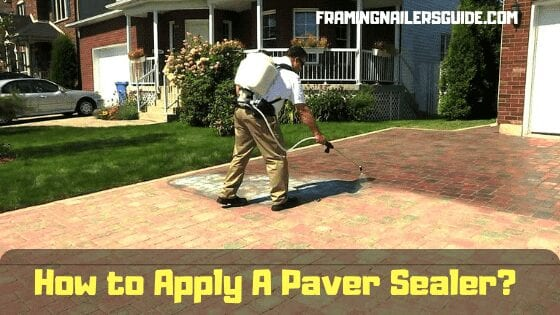 how to apply a paver sealer