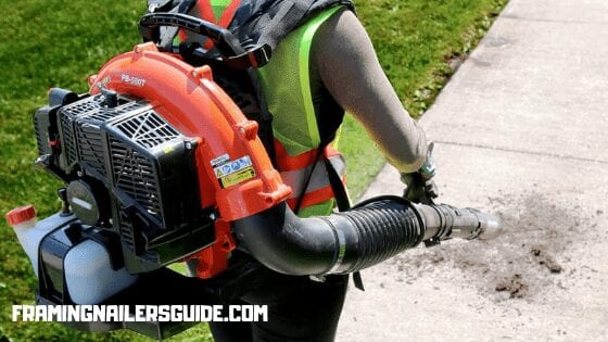 leaf blower uses