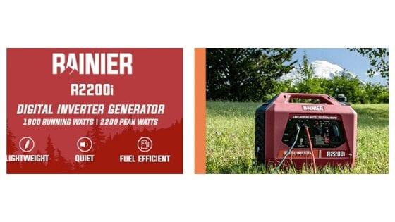 Rainier R2200i Super Quiet Portable Inverter Generator