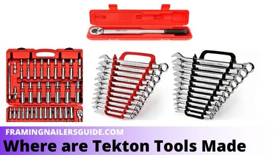 Where are Tekton Tools Made